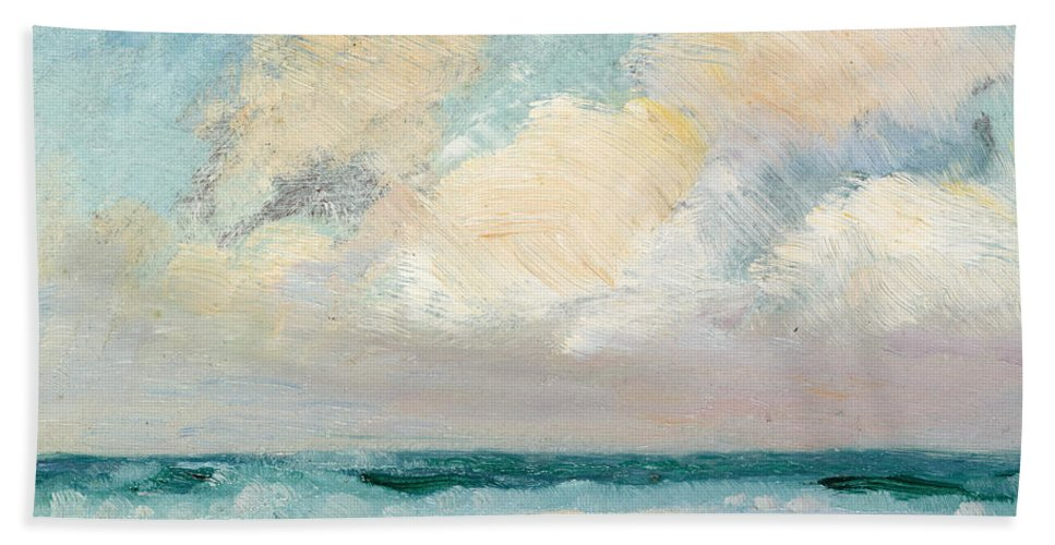 Seascape Beach Towel featuring the painting Sea Study, Morning by AS Stokes