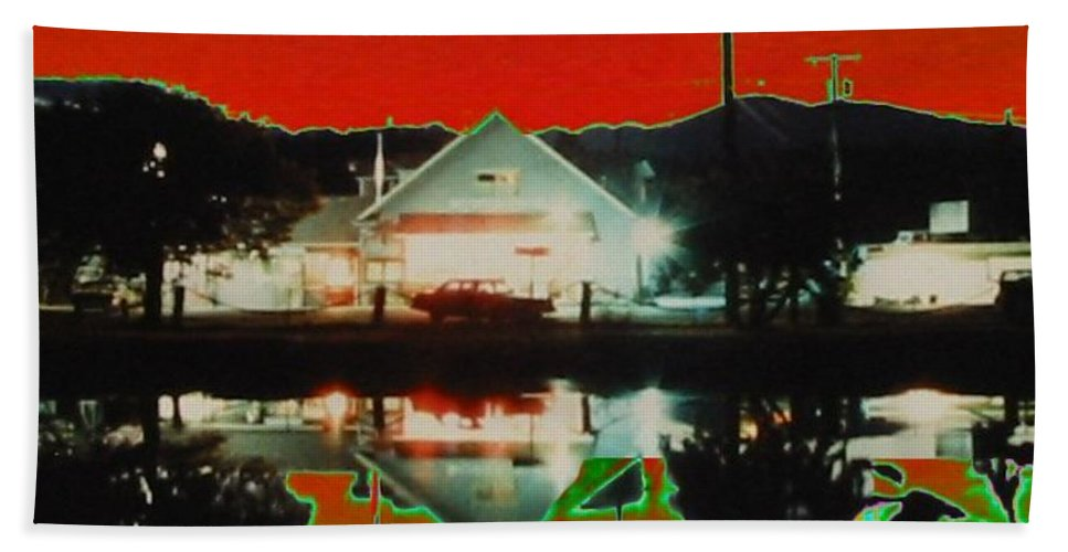 Seabeck Beach Towel featuring the photograph Seabeck General Store by Tim Allen