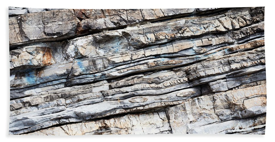 Stone Beach Towel featuring the photograph Abstract Rock Stone Texture by Rka Koka