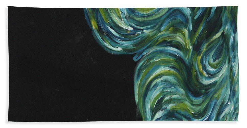 Art Beach Towel featuring the painting Seaside Dreams 3 by Nour Refaat