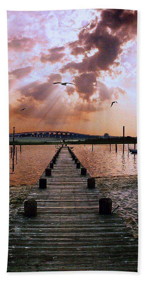 Seascape Beach Sheet featuring the photograph Seaside by Steve Karol