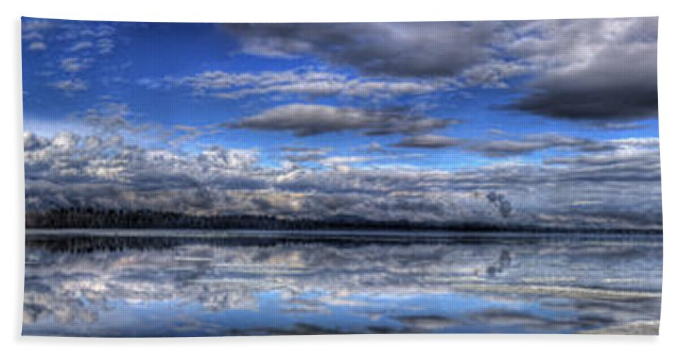 Landscape Beach Towel featuring the photograph Seasons Panorama by Lee Santa