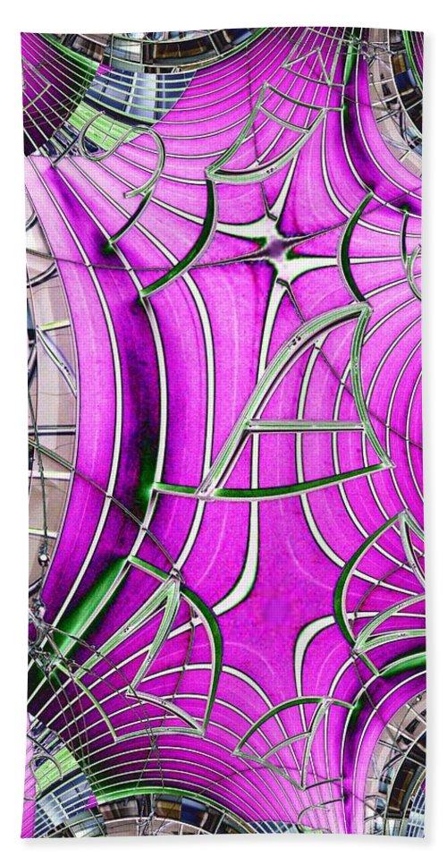 Seattle Beach Sheet featuring the digital art Seattle Art Museum by Tim Allen