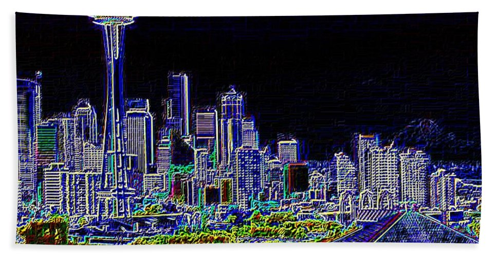 Seattle Beach Towel featuring the photograph Seattle Quintessence by Tim Allen