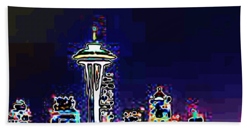 Seattle Beach Towel featuring the photograph Seattle Skyline by Tim Allen