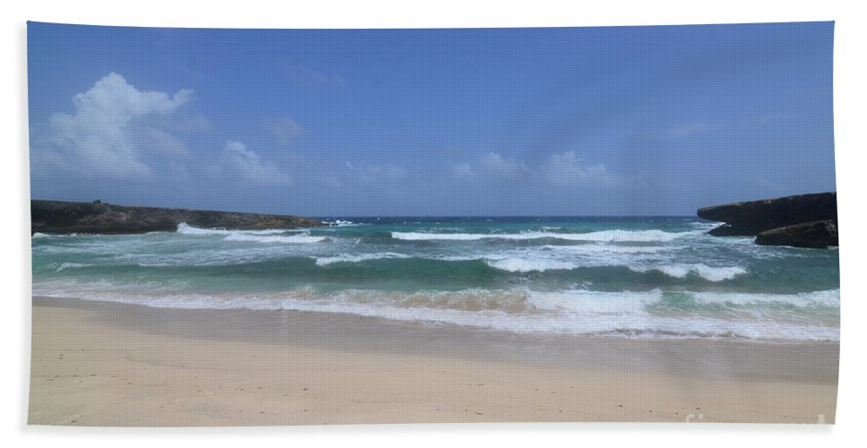 Boca Keto Beach Towel featuring the photograph Secluded Remote Beach Of Boca Keto In Aruba by DejaVu Designs
