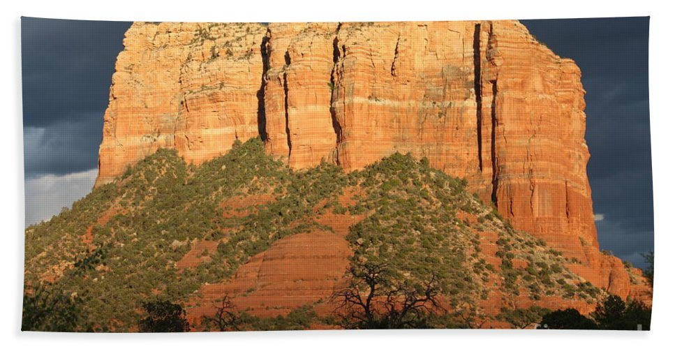Sedona Beach Towel featuring the photograph Sedona Sandstone Standout by Carol Groenen