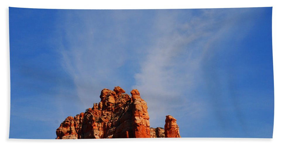 Photography Beach Towel featuring the photograph Sedona Sky by Susanne Van Hulst