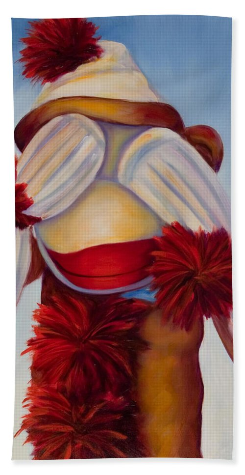 Children Beach Towel featuring the painting See No Bad Stuff by Shannon Grissom
