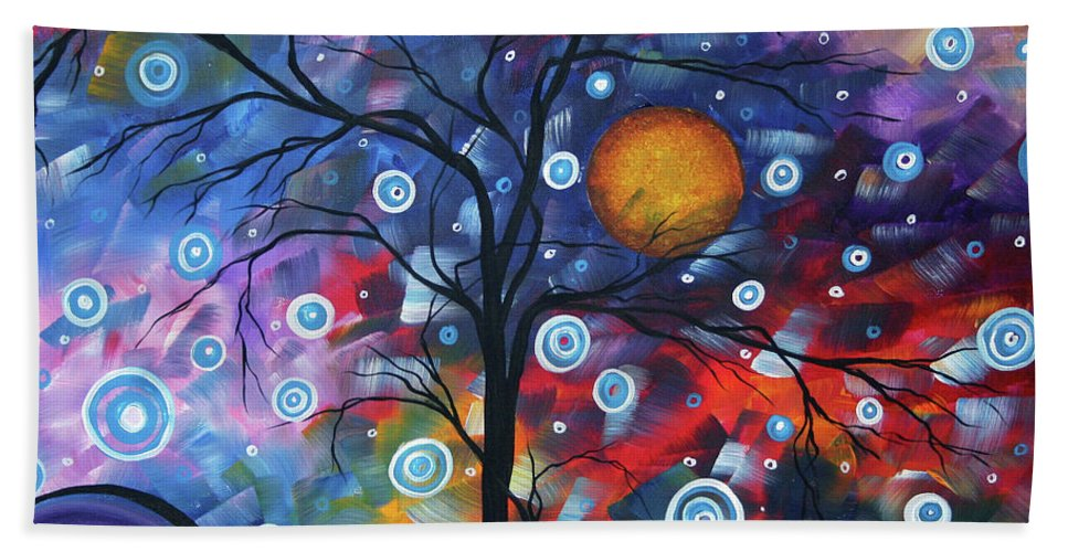 112310 Beach Towel featuring the painting See The Beauty by Megan Duncanson