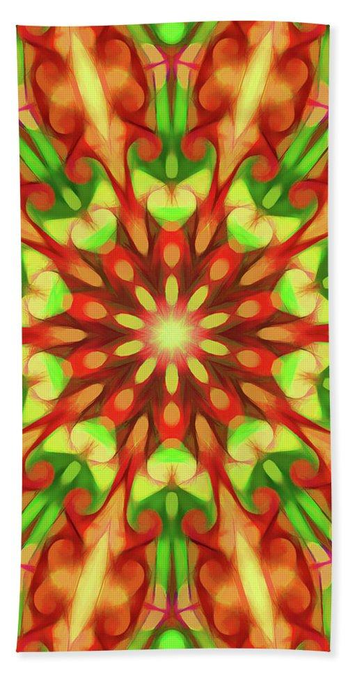 Mandala Art Beach Towel featuring the painting Seed by Jeelan Clark