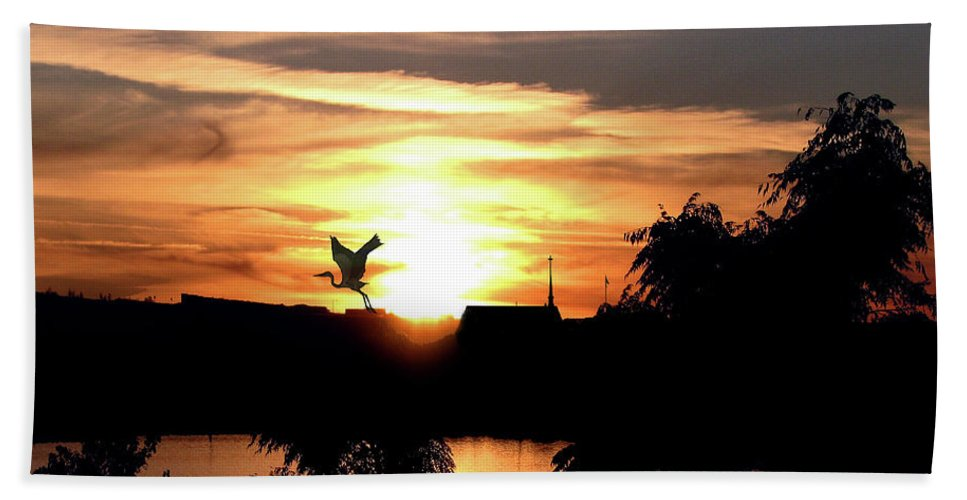 Sunset Beach Towel featuring the photograph Seeking Peace by Adele Moscaritolo