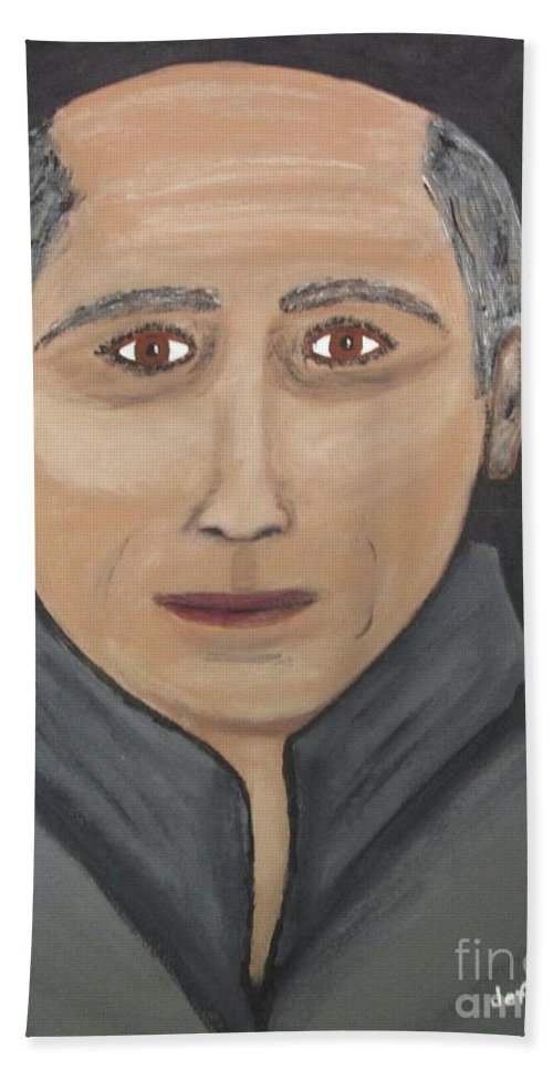 Beach Towel featuring the painting Self by Jeffrey Koss