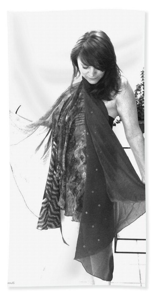 Self Portrait Beach Towel featuring the photograph Self Portrait by Linda Sannuti