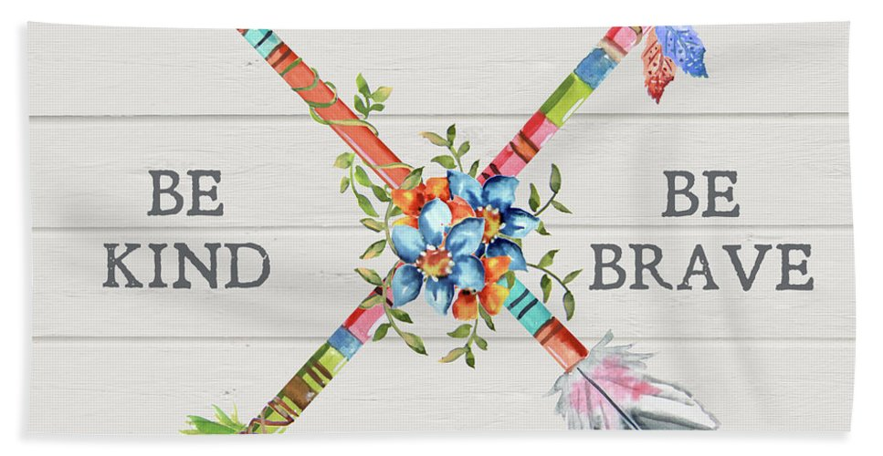Arrow Beach Towel featuring the painting Sentimental Arrows-adventure by Jean Plout