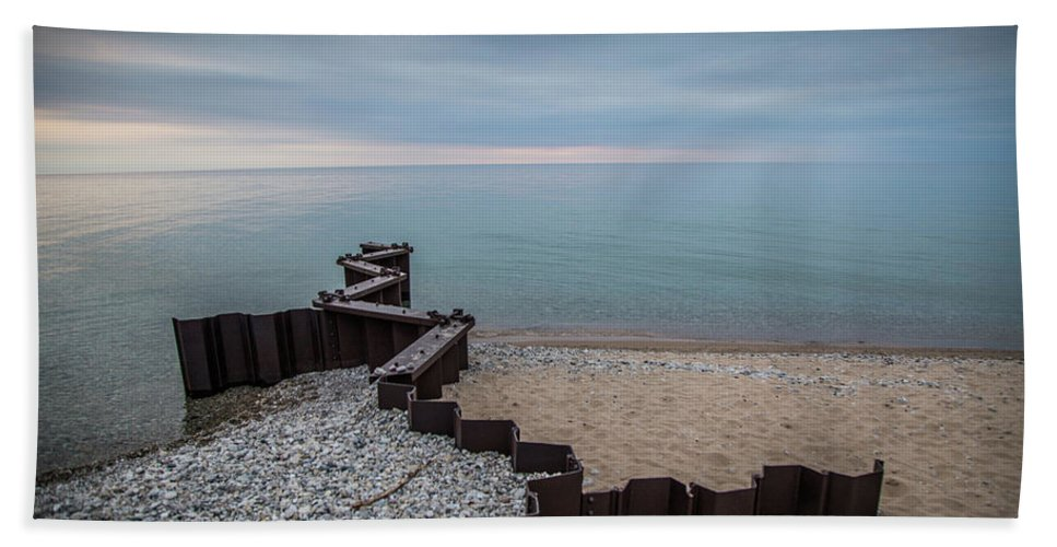 Lighthouse Beach Towel featuring the photograph Separation And Division by David Tisch