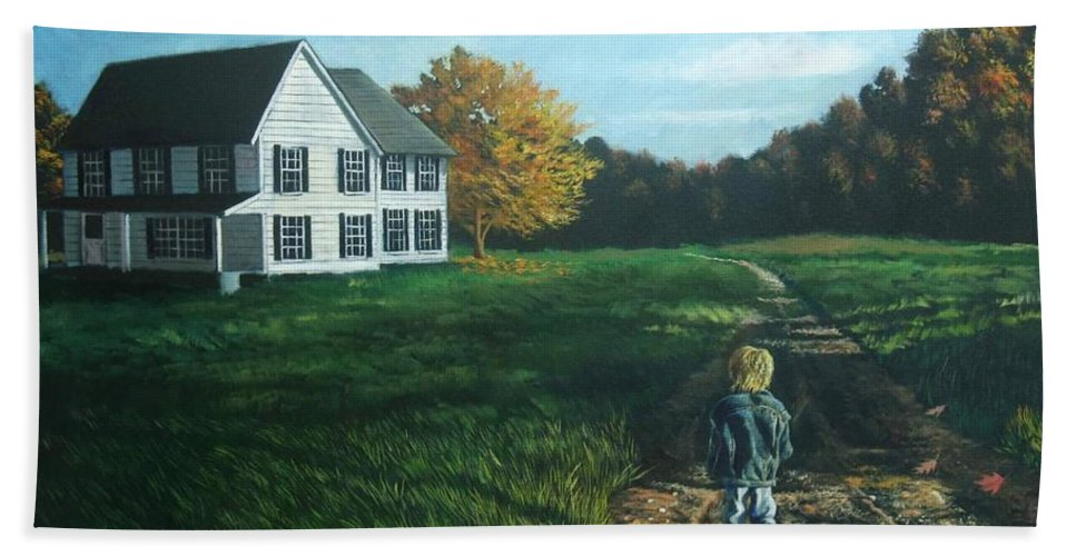 Pennsylvania Beach Towel featuring the painting September Breeze Number 4 by Christopher Shellhammer