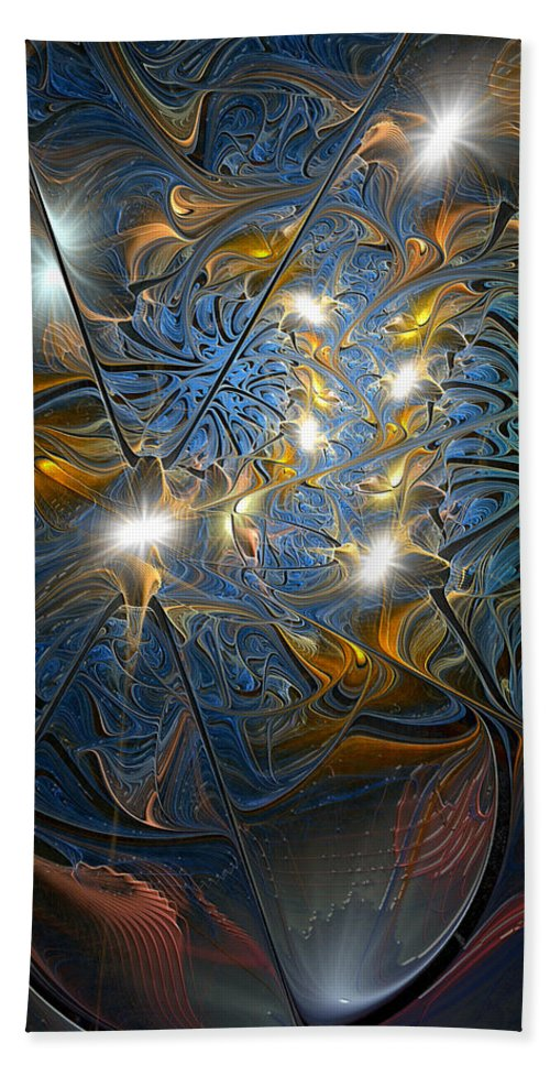 Abstract Beach Towel featuring the digital art Serendipitous Trope by Casey Kotas