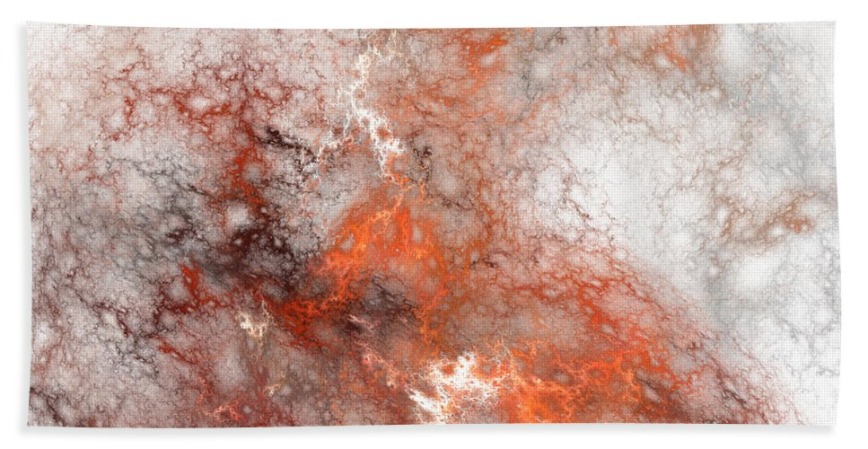 Abstract Art Beach Towel featuring the painting Serendipity No.2 by Malcolm Regnard