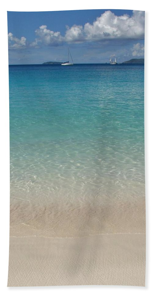 St Thomas Beach Towel featuring the photograph Serenity At Trunk Bay by Margaret Bobb