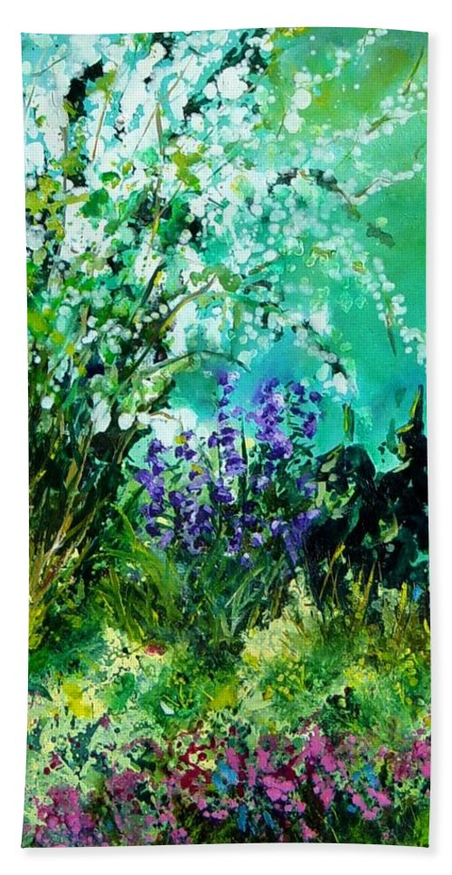 Tree Beach Sheet featuring the painting Seringa by Pol Ledent