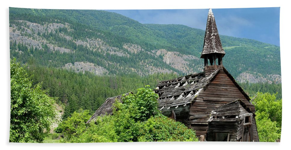 Beautiful Bc Beach Towel featuring the photograph Seton Portage Church 2 by Rod Wiens