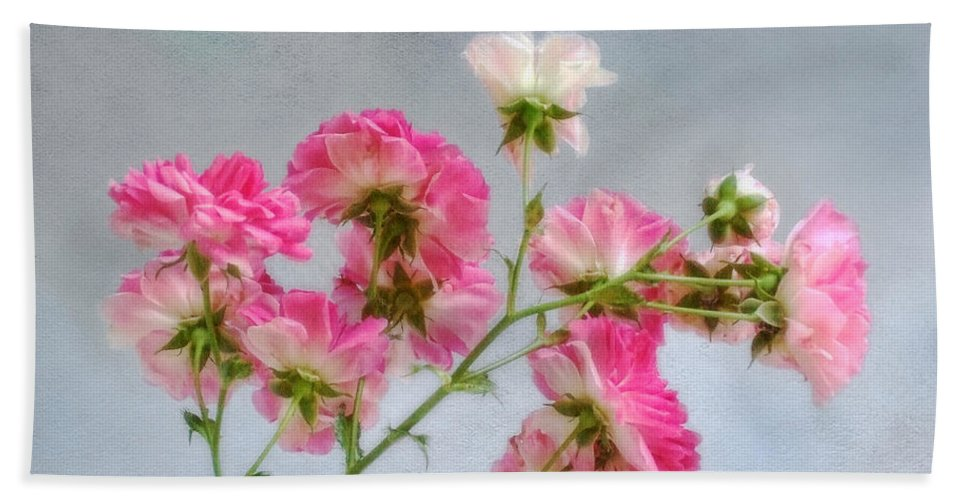 Roses Beach Towel featuring the photograph Seven Sisters Roses by Louise Kumpf