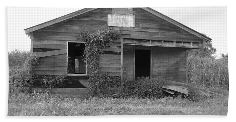 Black And White Beach Towel featuring the photograph Shack Barn by Michelle Powell