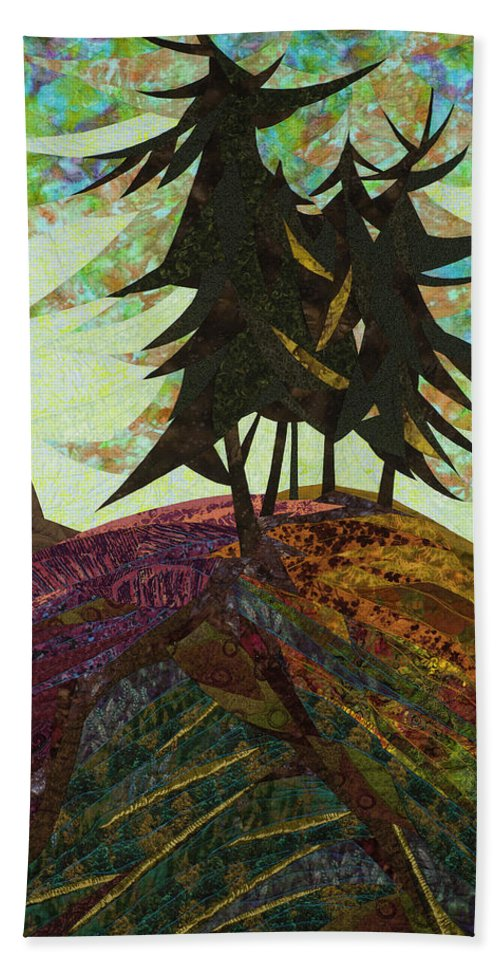 Tree Beach Towel featuring the tapestry - textile Shadow of the Evening by Linda Beach