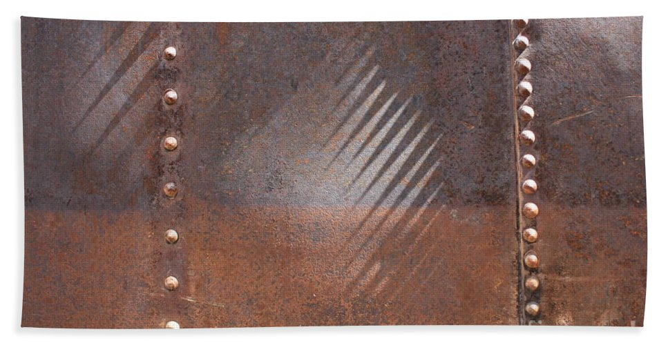 Rust Beach Towel featuring the photograph Shadows And Rust 2 by Carol Groenen