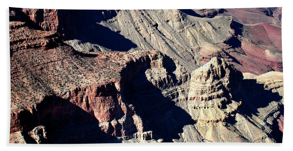 Grand Canyon Beach Towel featuring the photograph Shadows Of Grand Canyon by Paul Cannon