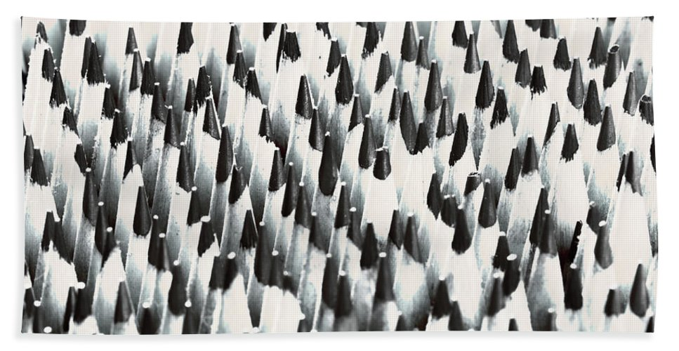Wooden Pencils Beach Towel featuring the photograph Sharp Wooden Pencils by Evgeniy Lankin