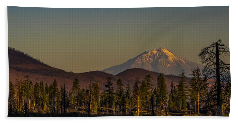 California Beach Towel featuring the photograph Mt Shasta From Hat Creek by Albert Seger