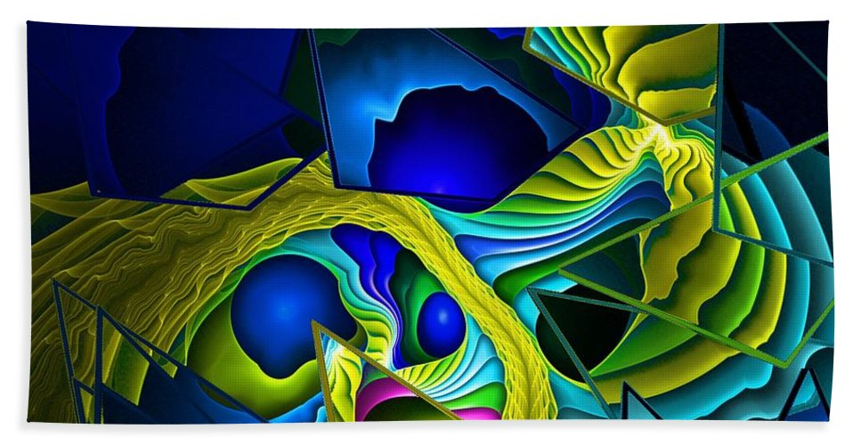 Fantasy Beach Towel featuring the digital art Shattered Visions. by David Lane