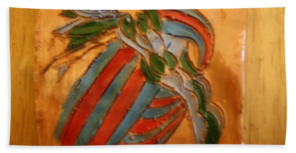 Jesus Beach Towel featuring the ceramic art Sheer Bliss - Tile by Gloria Ssali