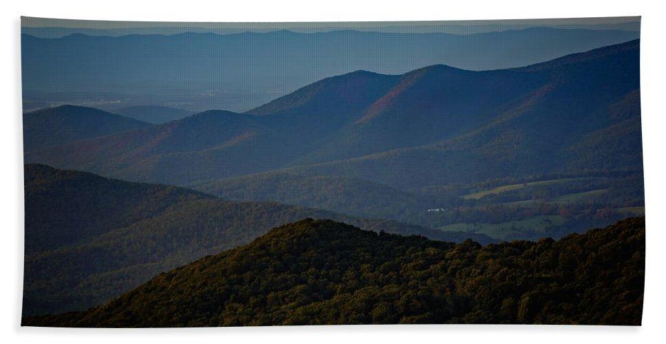 Shenandoah Valley Beach Towel featuring the photograph Shenandoah Valley At Sunset by Rick Berk