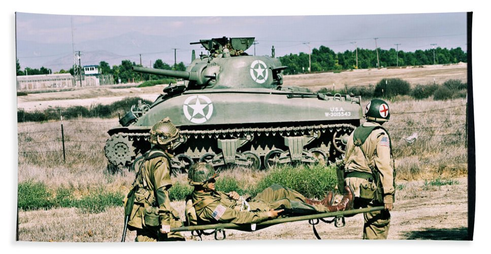 M4 Sherman Beach Towel featuring the photograph Sherman Advance by Tommy Anderson