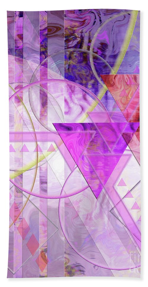 Shibumi Beach Towel featuring the digital art Shibumi Spirit by John Beck