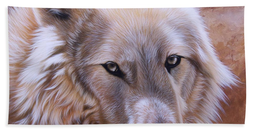 Acrylic Beach Towel featuring the painting Shine by Sandi Baker