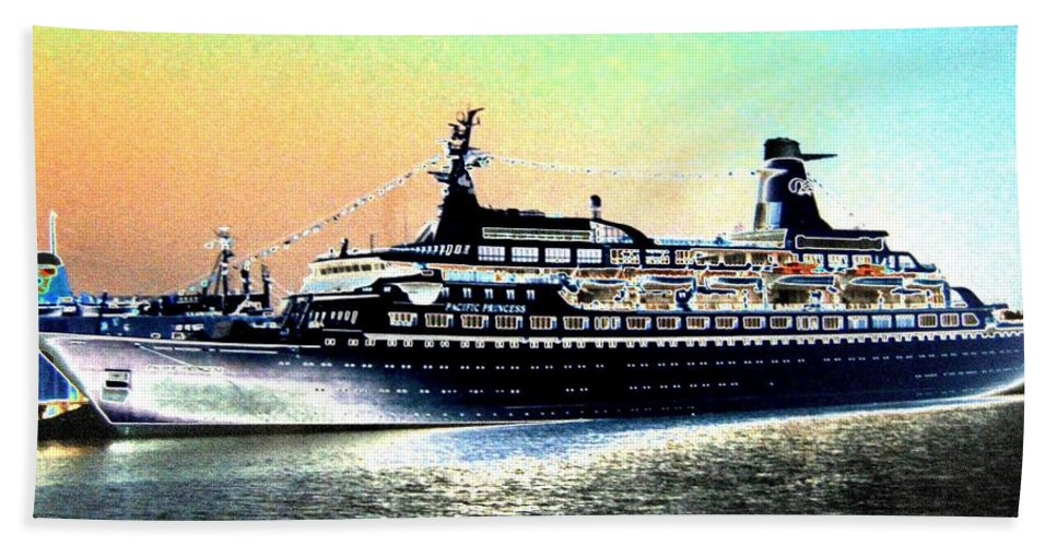 Photo Design Beach Towel featuring the digital art Shipshape 1 by Will Borden