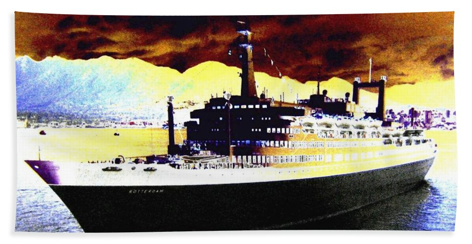 S S Rotterdam Beach Towel featuring the digital art Shipshape 3 by Will Borden