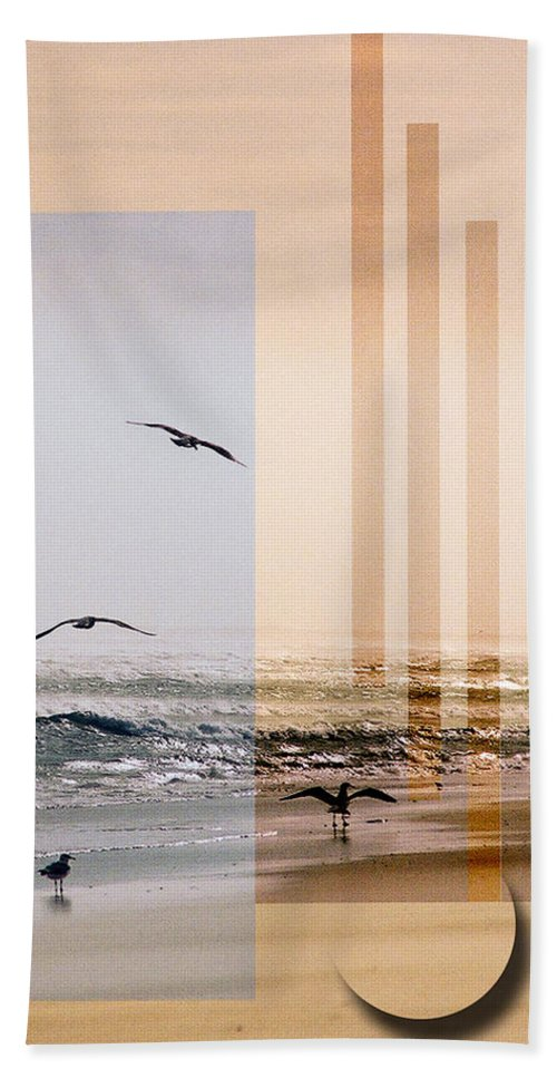 Abstract Beach Towel featuring the photograph Shore Collage by Steve Karol