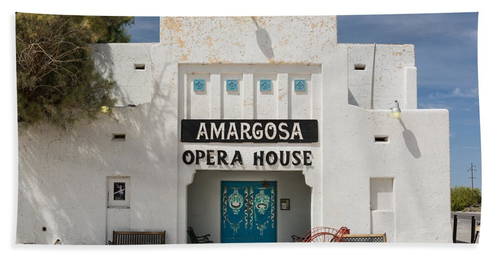Amargosa Beach Towel featuring the photograph Show Tonight Amargosa Opera House by Steve Gadomski