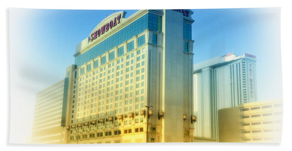 Showboat Beach Towel featuring the photograph Showboat Casino - Atlantic City by Bill Cannon