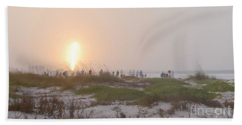 Shuttle Launch Beach Towel featuring the photograph Shuttle Launch by David Lee Thompson