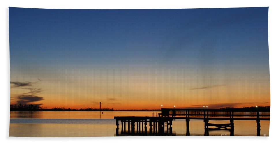 Sound Beach Towel featuring the photograph Calmer Waters by Jennifer Diaz