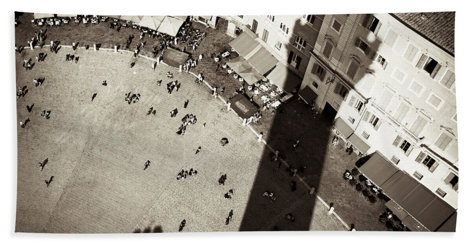 Siena Beach Towel featuring the photograph Siena From Above by Dave Bowman