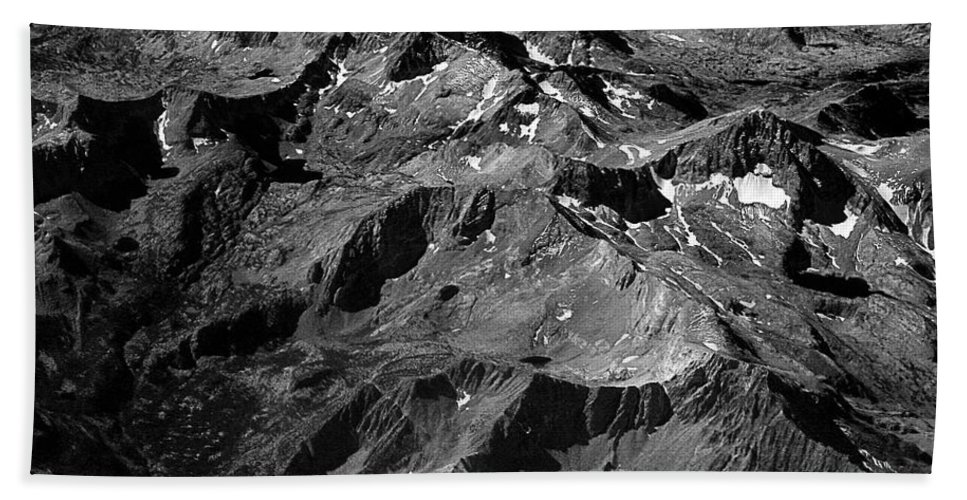 Sierra Nevada Beach Towel featuring the photograph Sierra Nevada's Planer Earth Bw by James BO Insogna