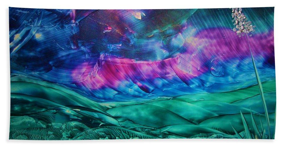 Desert Beach Sheet featuring the print Sierra Vista by Melinda Etzold