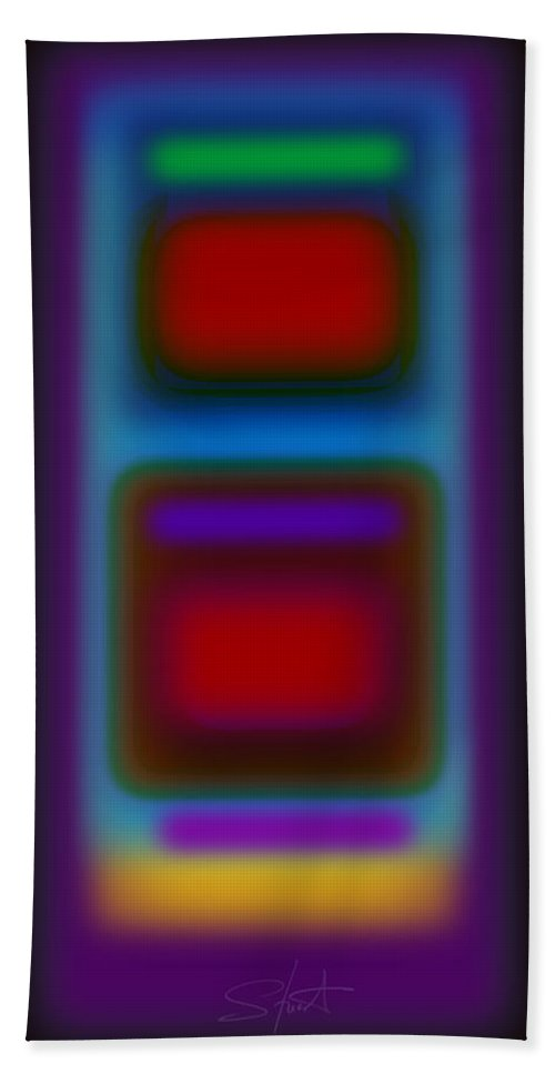 Landscape Beach Towel featuring the painting Signal by Charles Stuart